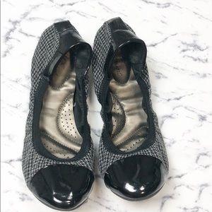 Dexter Comfort gray black ballet flats size 8
